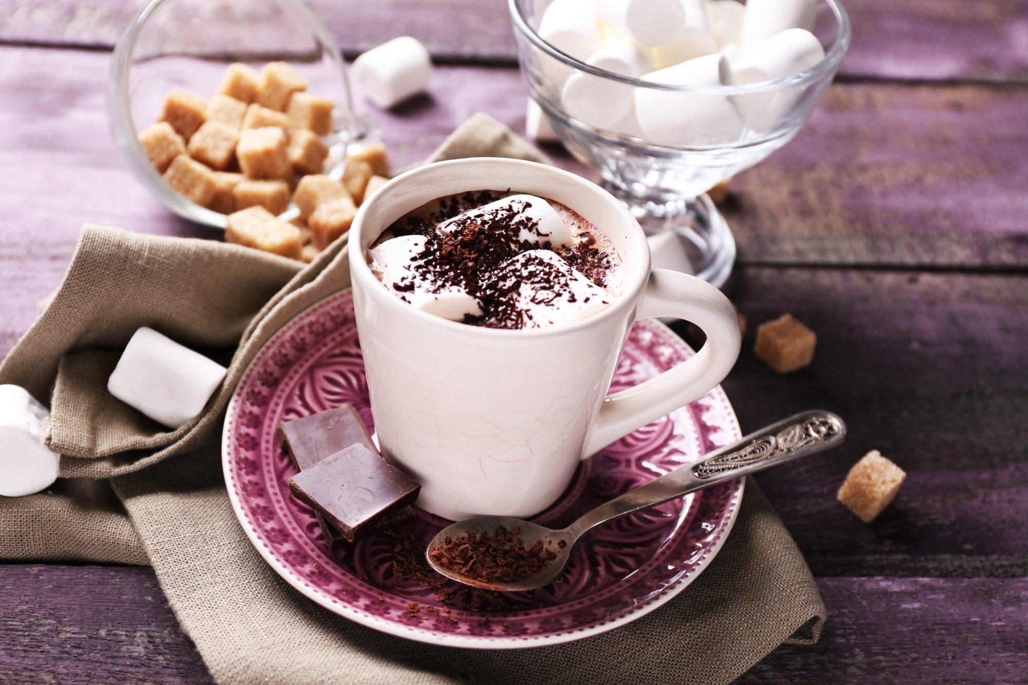 Как сделать горячий шоколад в домашних фото 797