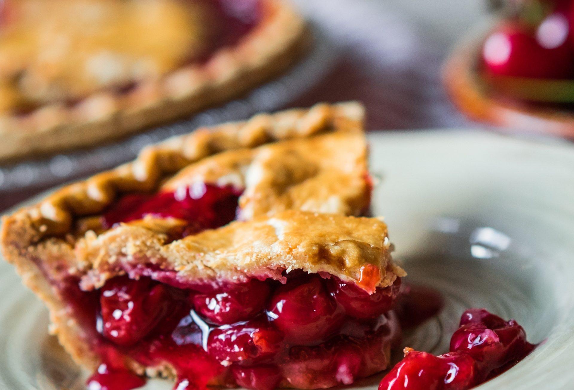 вишневый пирог рецепт простой с фото пальцев