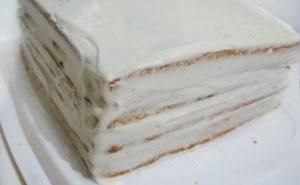 Медовик без масла из маминой тетрадки
