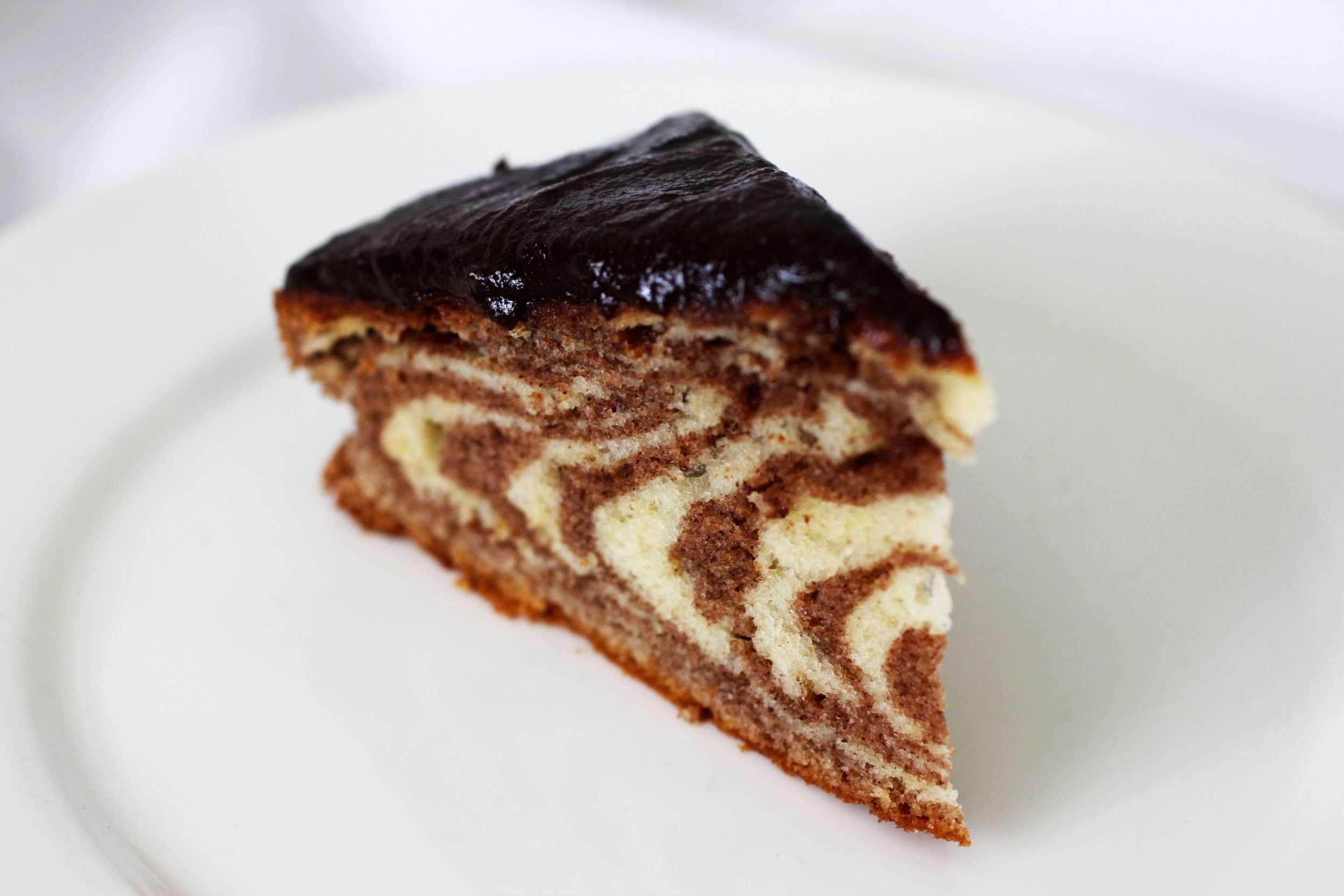 Пирог зебра классический пошаговый рецепт
