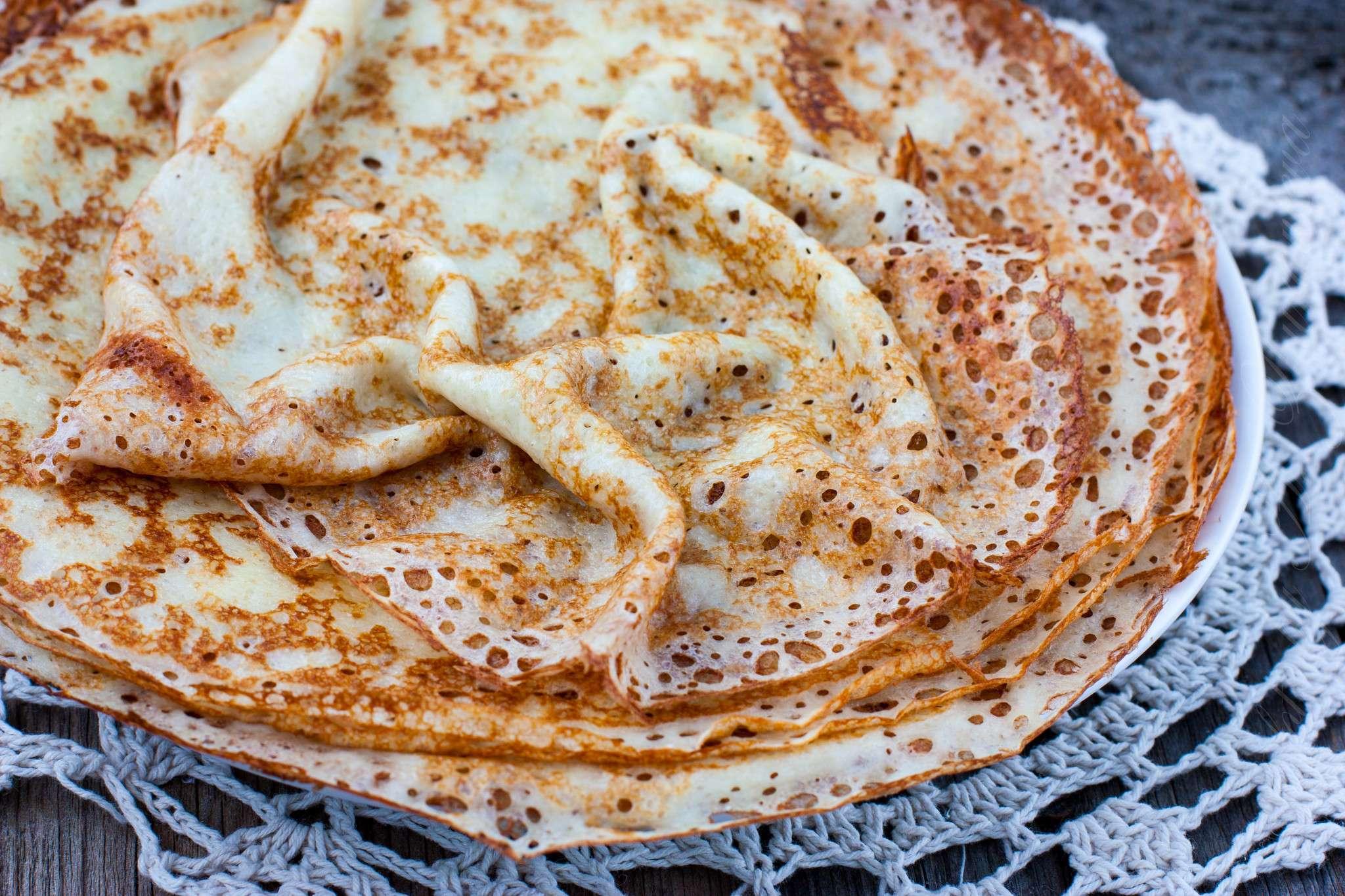 Блины на молоке рецепт пошагово с дырочками с разрыхлителем
